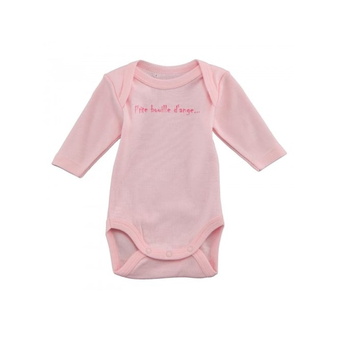 3 Pommes Baby Girl Pale Pink Long Sleeved Body Long