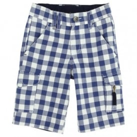 Boys Blue Check Shorts