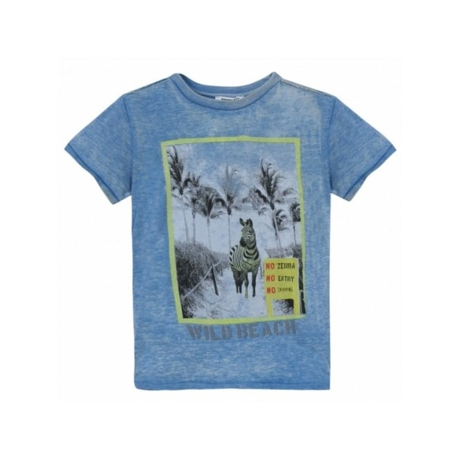 3 Pommes Boys Blue Printed T-shirt