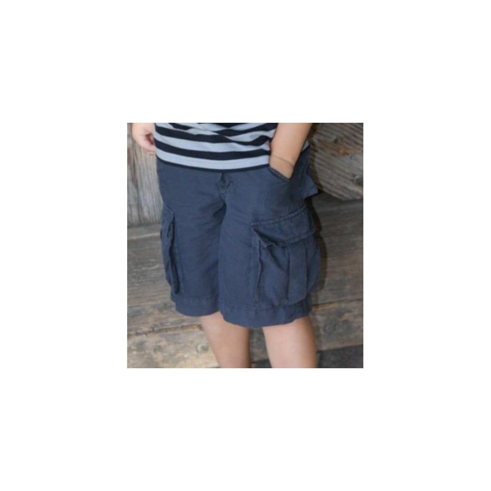 ad7cb04c81 Boys Navy Linen Shorts