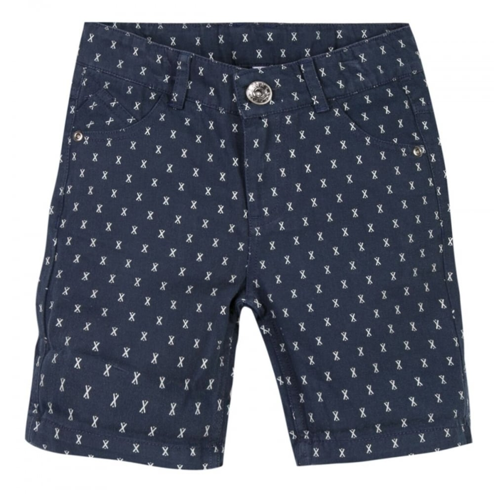 370d518f49 Boys Navy Printed Shorts