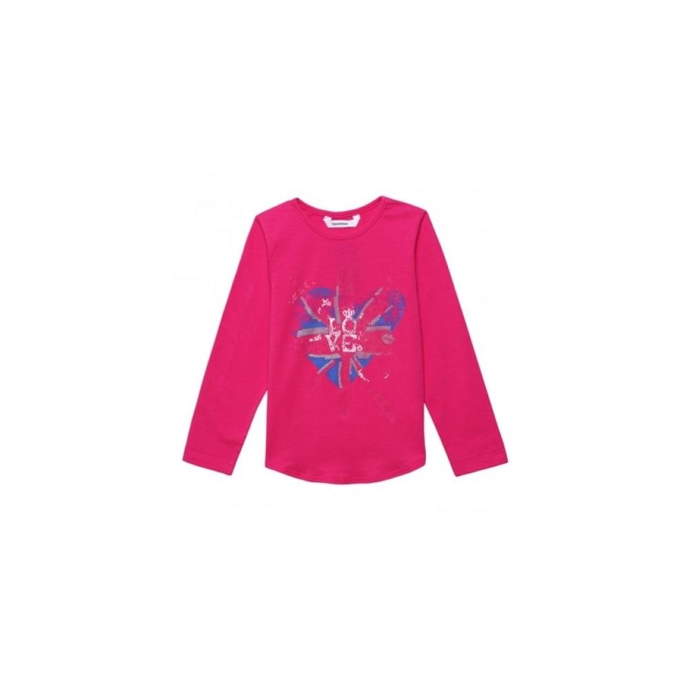 e7da70f3c356 3-Pommes-Girls-Fuchsia-T-shirt