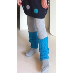 67ffdae9e3687 Girls Grey Tights with Turquoise Legwarmers CLEARANCE SALE · 3 Pommes ...
