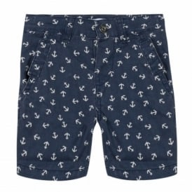 Mini Boy Anchor Print Shorts