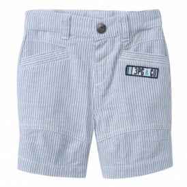 Mini Boy Blue Stripe Shorts