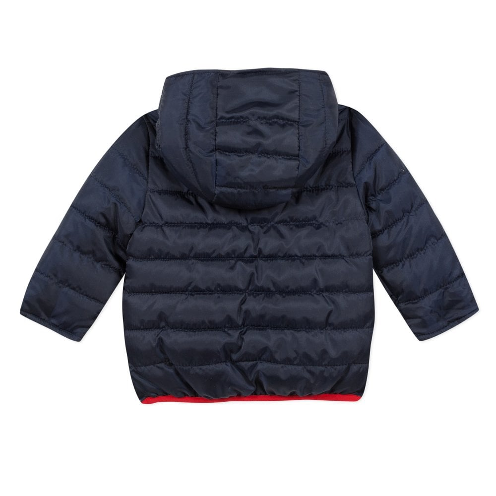 Mini Boy Navy and Blue Reversible Puffer Jacket