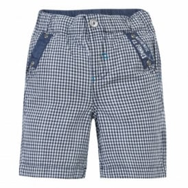 Mini Boy Navy Stripe Shorts