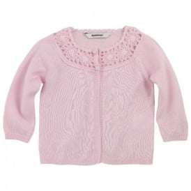 Mini Girl Pale Pink Fine Knit Cardigan