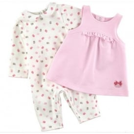 Mini Girl Pink All in One and Dress Set