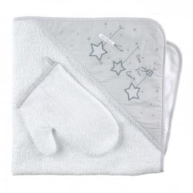 Baby Bath Towel and Glove Gift Set