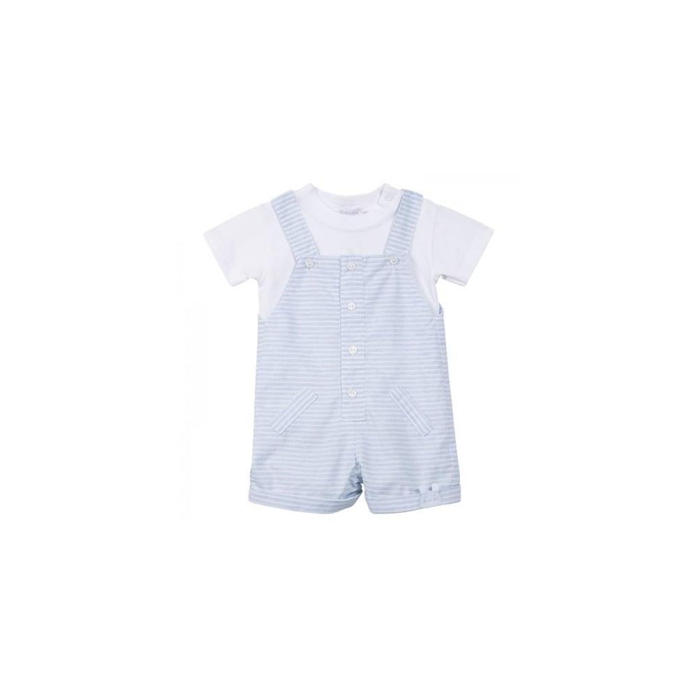 2c9647860d5b7 Absorba-Baby-Boy-Blue-Striped-2-Piece-Dungaree-Shorts-Set