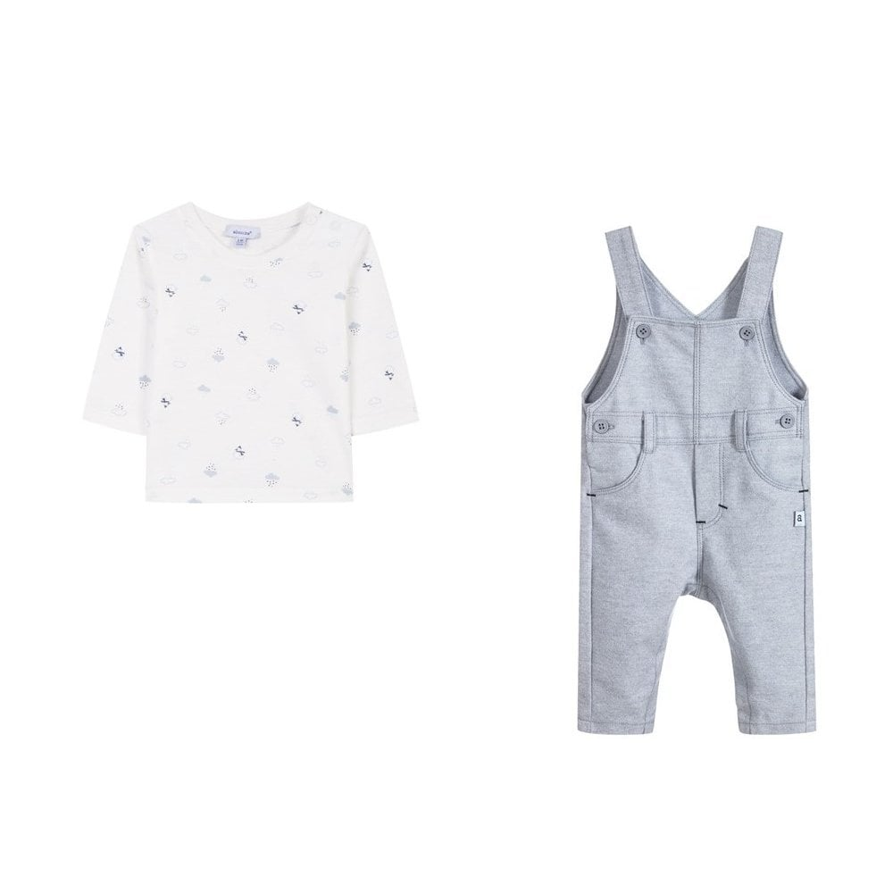 f997297c3dcd Absorba-Baby-Boy-T-shirt-and-Dungaree-Set-AW18