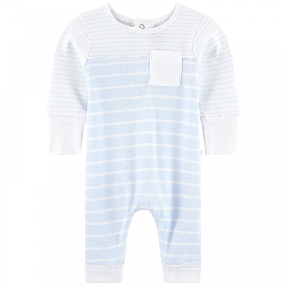7356acebb Absorba-Baby-Boy-Pale-Blue-and-White-Stripe-Romper