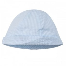 Baby Boy Pale Blue Stripe Sunhat