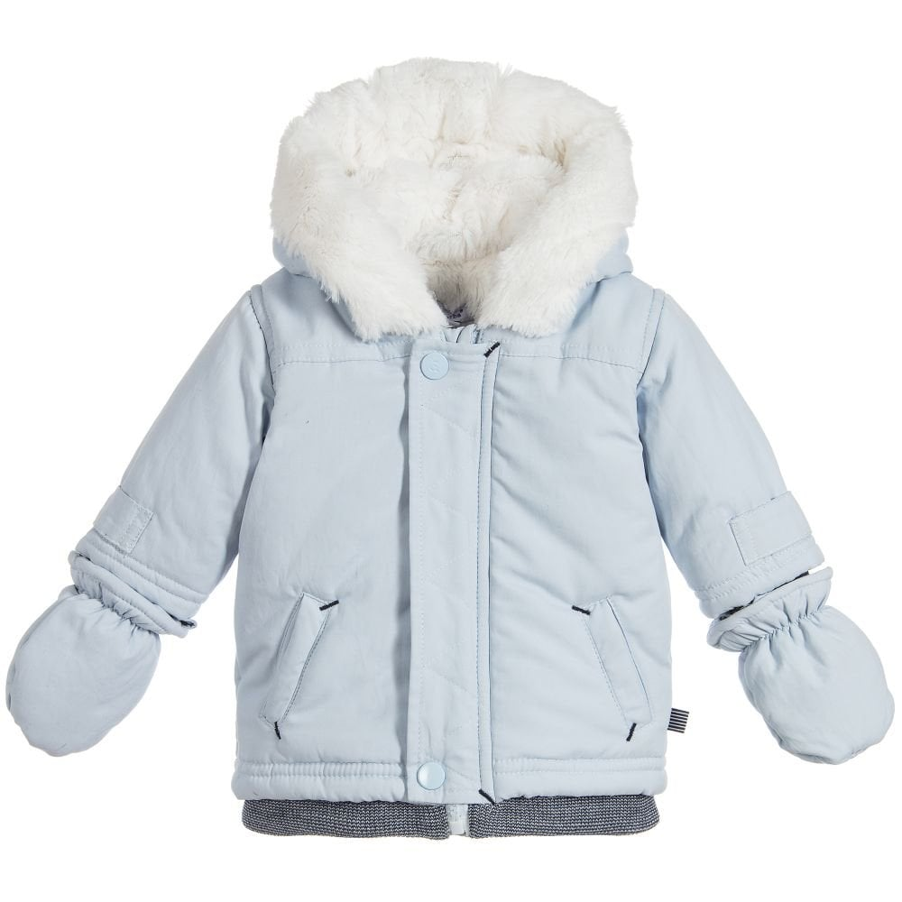 8977547a4 Absorba-Baby-Boy-Pale-Blue-Winter-Jacket-with-Mitts-AW18