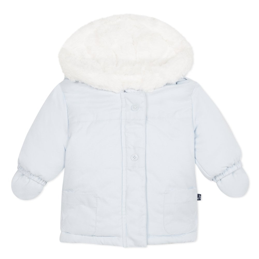 e4a2322300b0 Absorba-Baby-Boy-Pale-Blue-Winter-Jacket-with-Mitts
