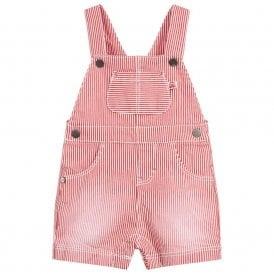 842e32b4208d Baby Boy Red Stripe Dungarees