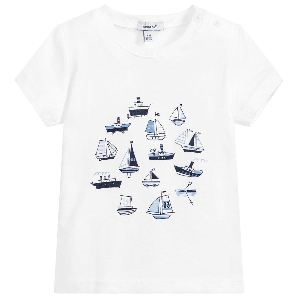 d05edddbb Absorba-Baby-Boy-Sailboat-T-shirt