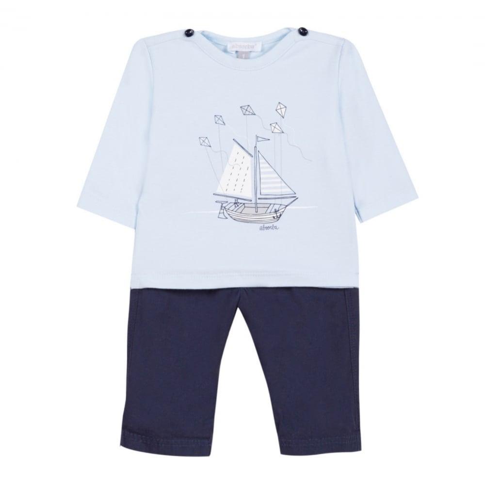 699313cbf4630 Absorba-Baby-Boy-Sailboat-T-shirt-Trouser-Set