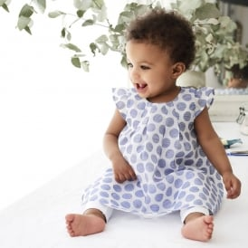 Baby Girl Blue Spot Dress