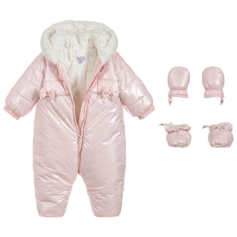9c0e1cdb2 Absorba-Baby-Girls-Pink-Fur-Lined-Snowsuit