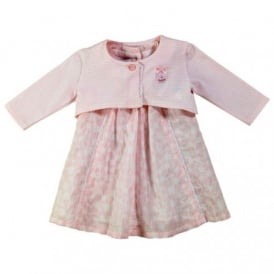 Baby Girl Pink Dress and Cardigan Set