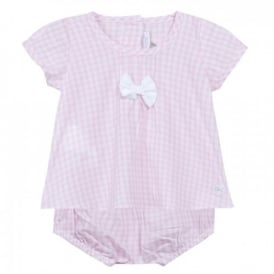 Baby Girl Pink Gingham Top and Shorts Set