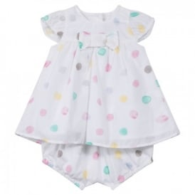 Baby Girl Polka Dot Dress and Bloomers