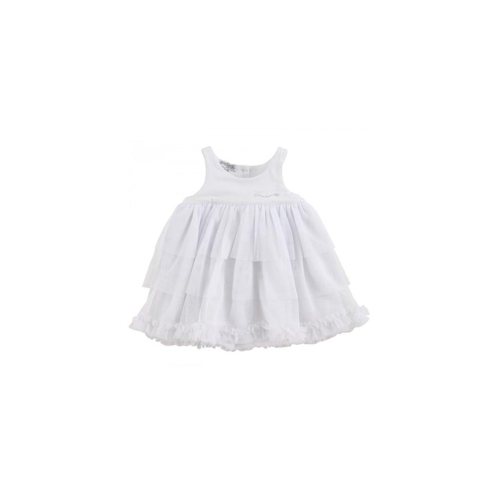 Absorba Girls White Tulle Dress