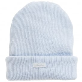 Baby Ribbed Knit Hat - Blue