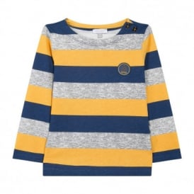 Boys Yellow Stripe Long Sleeved Top
