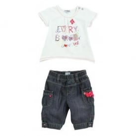 Girls Summer T-shirt and Trouser Set