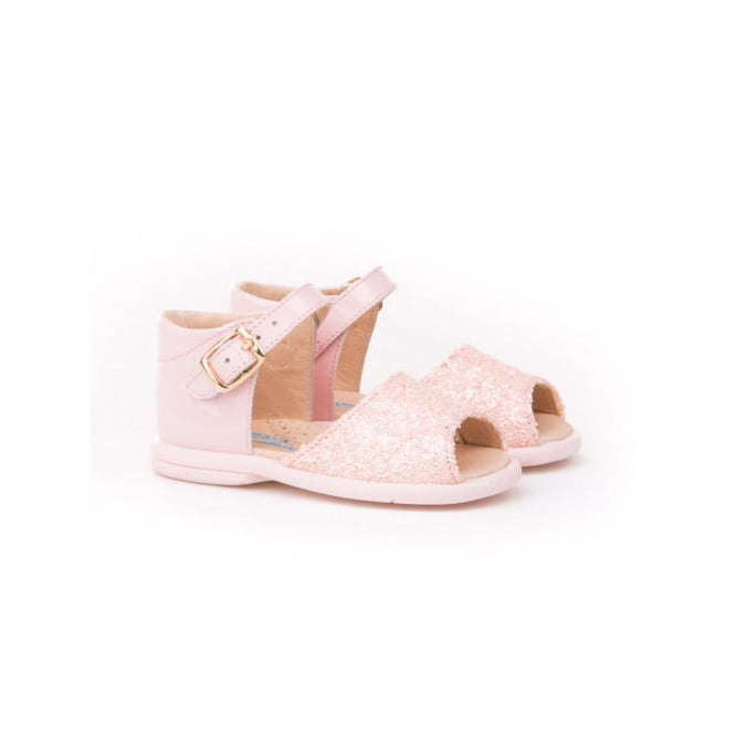 Angelitos Shoes Angelitos Pink Glitter Open Toe Sandals