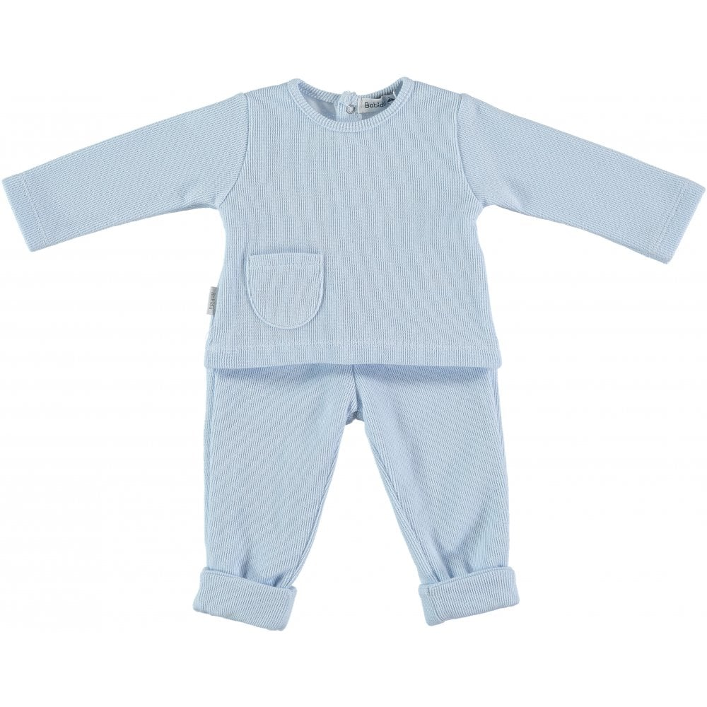 82bb690674d5 Babidu-Baby-Pale-Blue-Top-and-Trouser-Set-AW18
