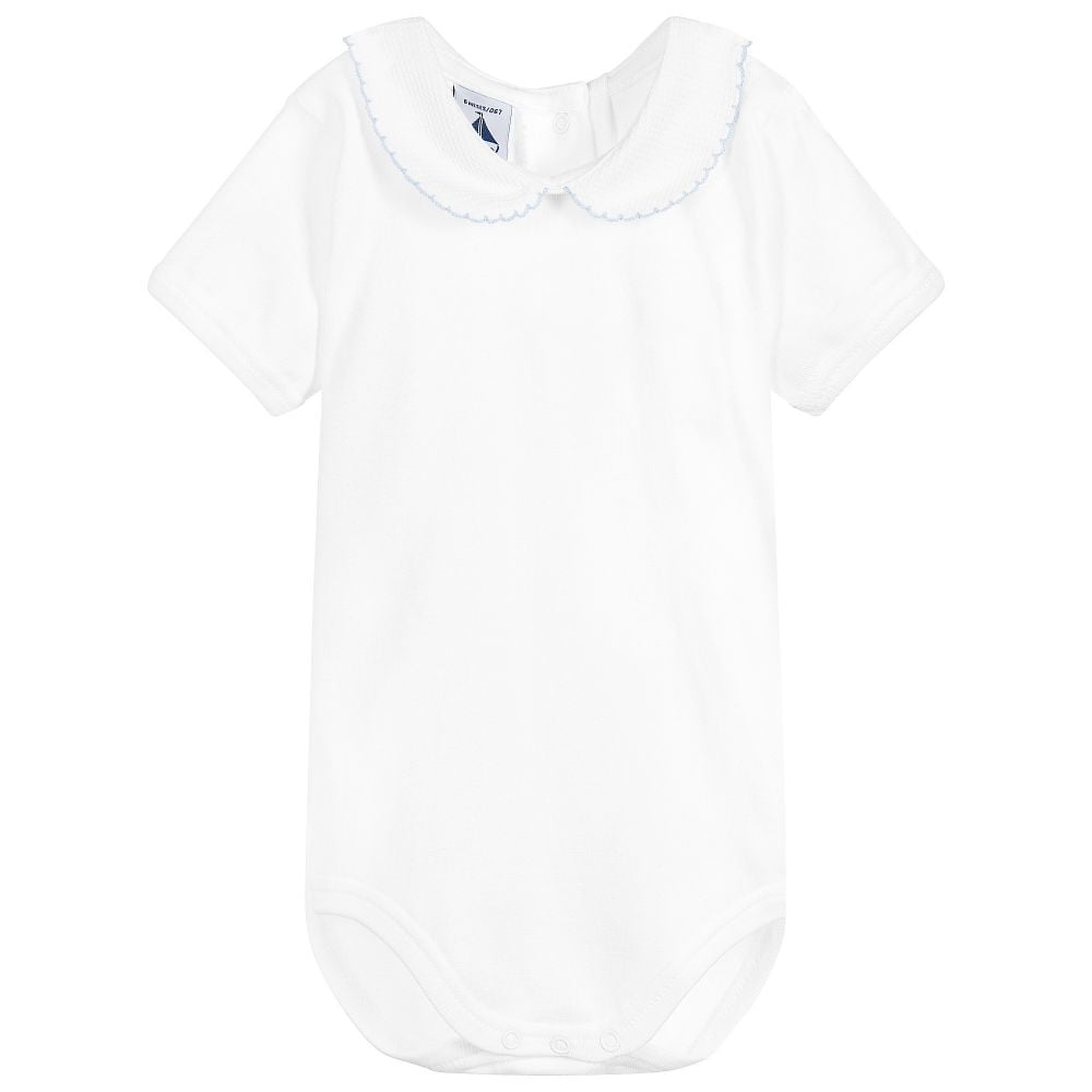 e1cc3d092 Babidu-Peter-Pan-Collar-Short-Sleeve-Bodysuit in-White-with-Soft-Blue