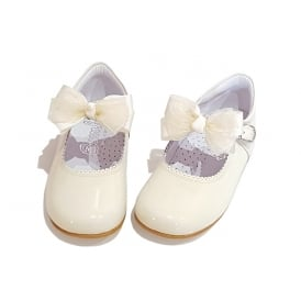 Ivory Mary Jane with Removable Bow