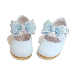 Pale Blue Mary Jane with Removable Bow