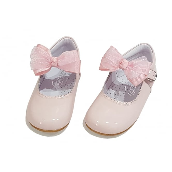 Bambi Shoes Pale Pink Mary Jane with Removable Bow