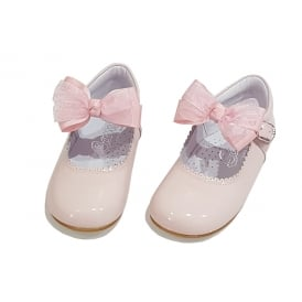 Pale Pink Mary Jane with Removable Bow