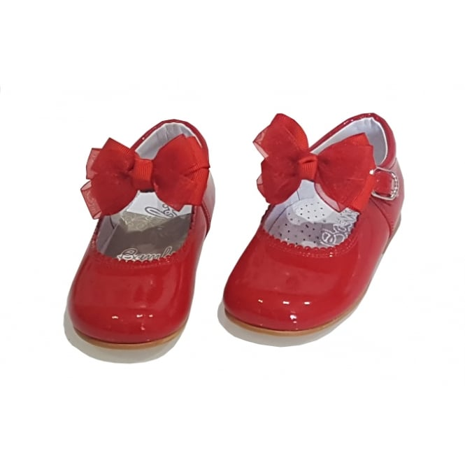 Bambi Shoes Red Mary Jane with Removable Bow