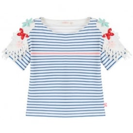 Girls Blue Stripe T-shirt