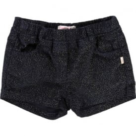 Girls Glitter Velvet Shorts