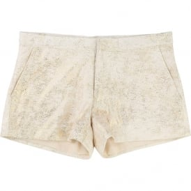 Girls Gold Glittery Shorts