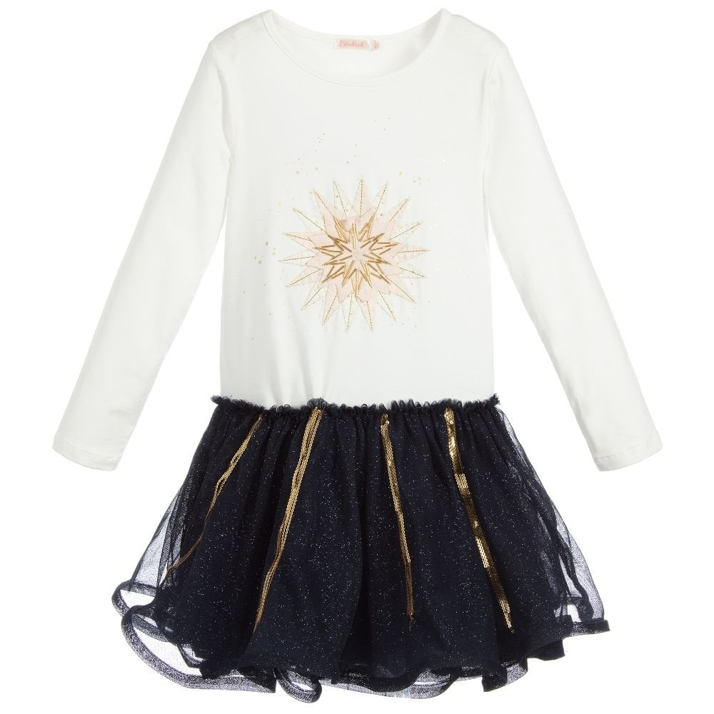 33993038d3a6 Billieblush-Girls-Ivory-and-Navy-Tulle-Dress