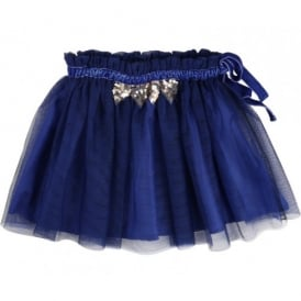Girls Navy Blue Tulle Skirt