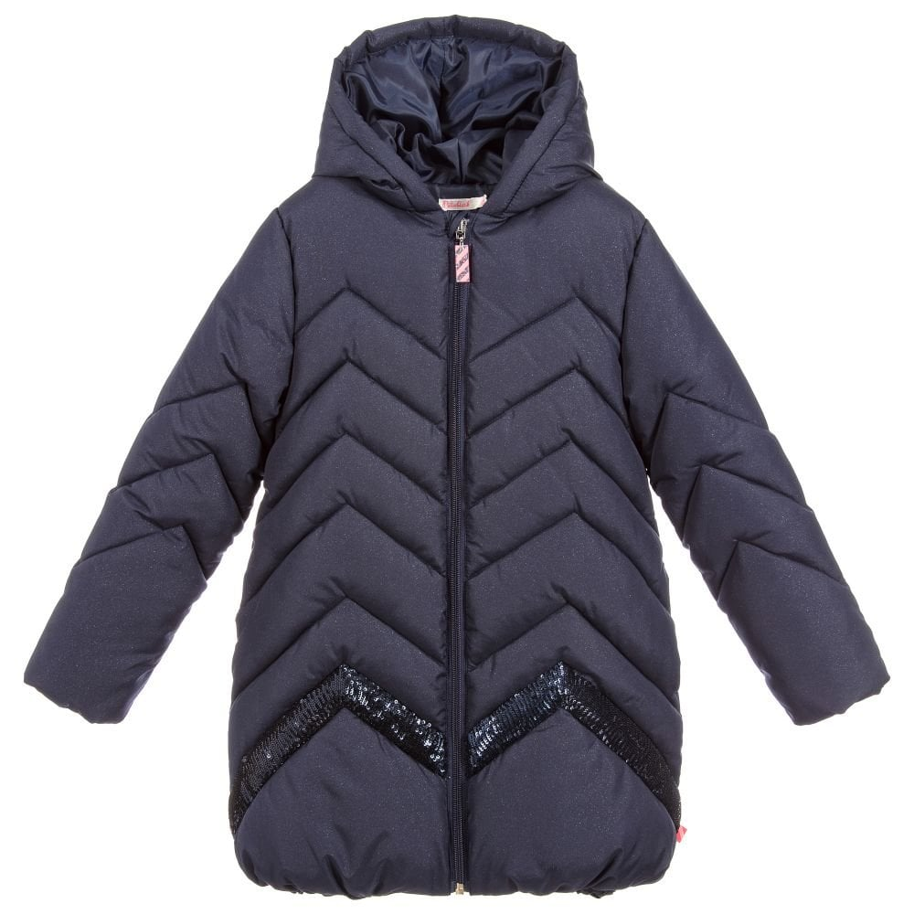 6341e9127 Billieblush-Girls-Navy-Padded-Coat