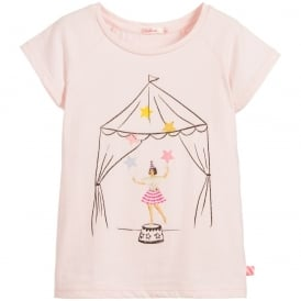 Girls Pink Circus T-shirt