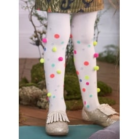 Girls Pom Pom Tights