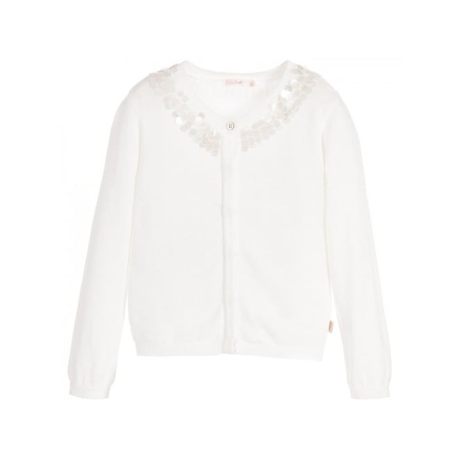 6c7009e984 Billieblush-Girls-White-Cotton-Knit-Cardigan
