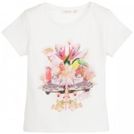 Girls White Cuba T-shirt